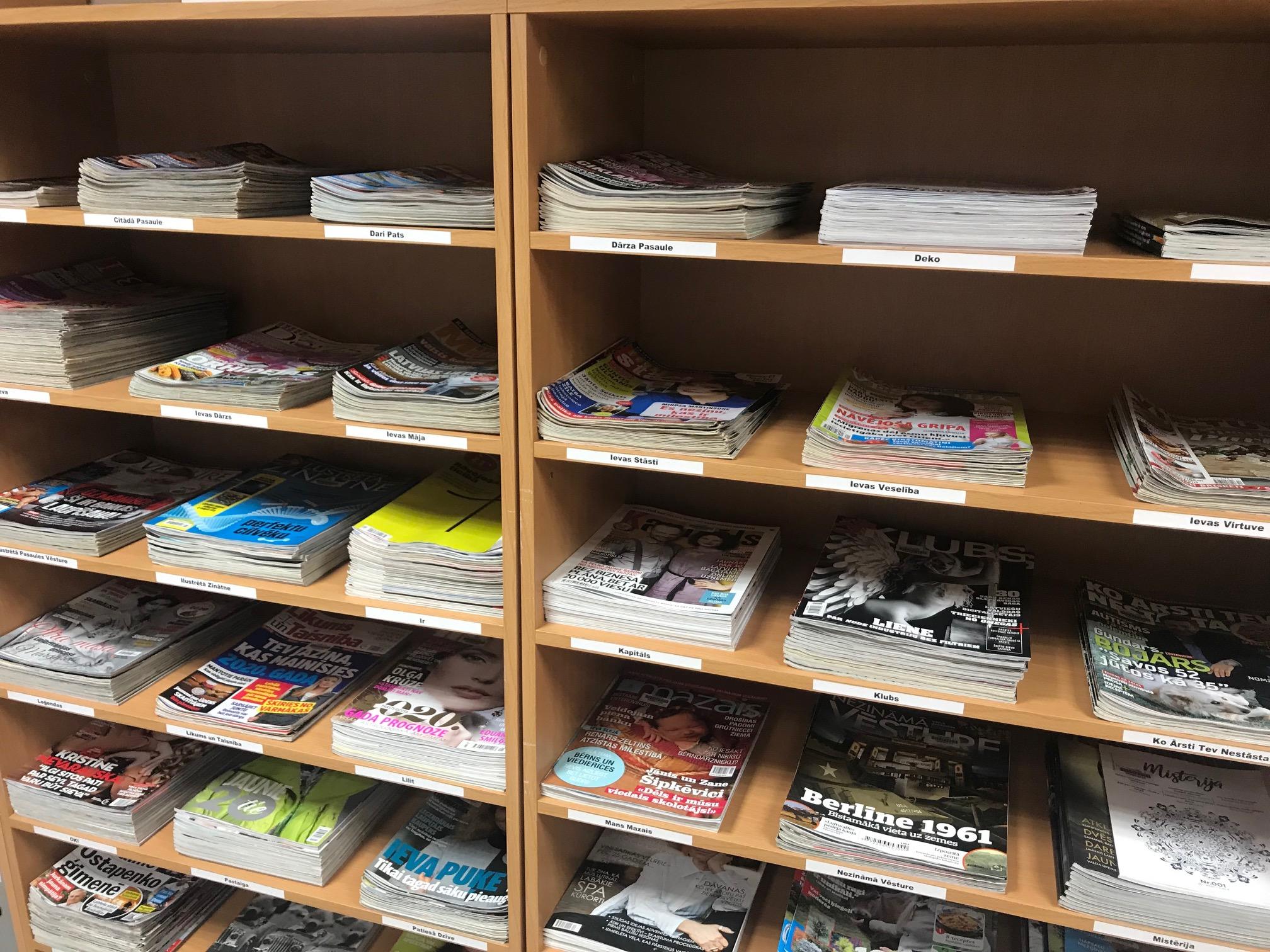 2020.gadā Ogres Centrālajā Bibliotēkā Pieejams Plašs Periodisko Izdevumu Klāsts