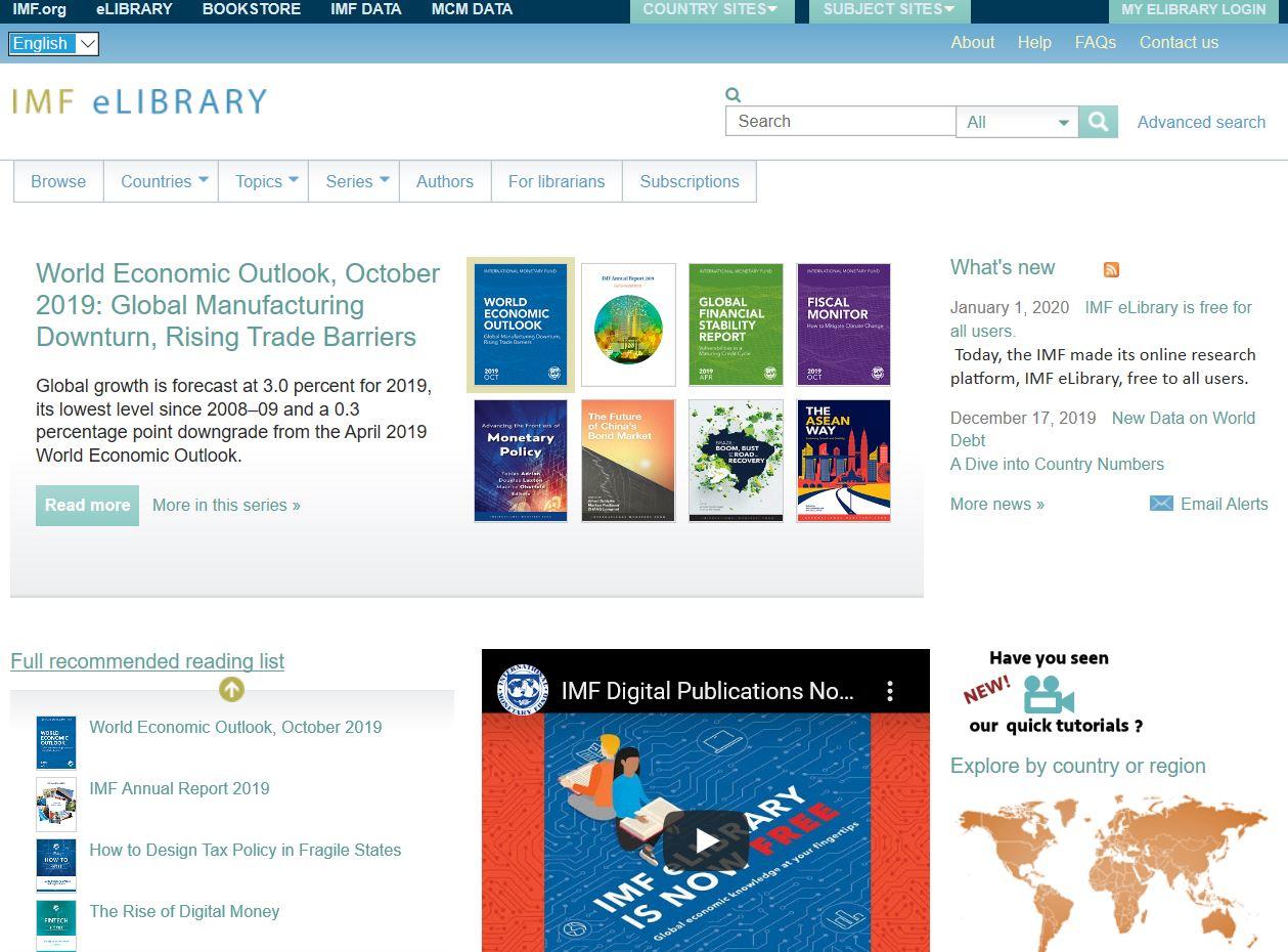 Bezmaksas Piekļuve Vērtīgai Datu Bāzei Ekonomikas Nozarē – IMF ELibrary